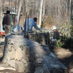 New Canaan Curved Stone Wall