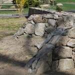 Masonry Stone Wall Entrance into Corral