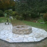 Added fire pit extension to patio