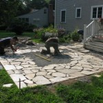 400 sf natural stone patio