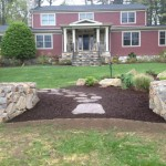 New Canaan: Stone Wall, Garden, Stone Path between Home and Corral