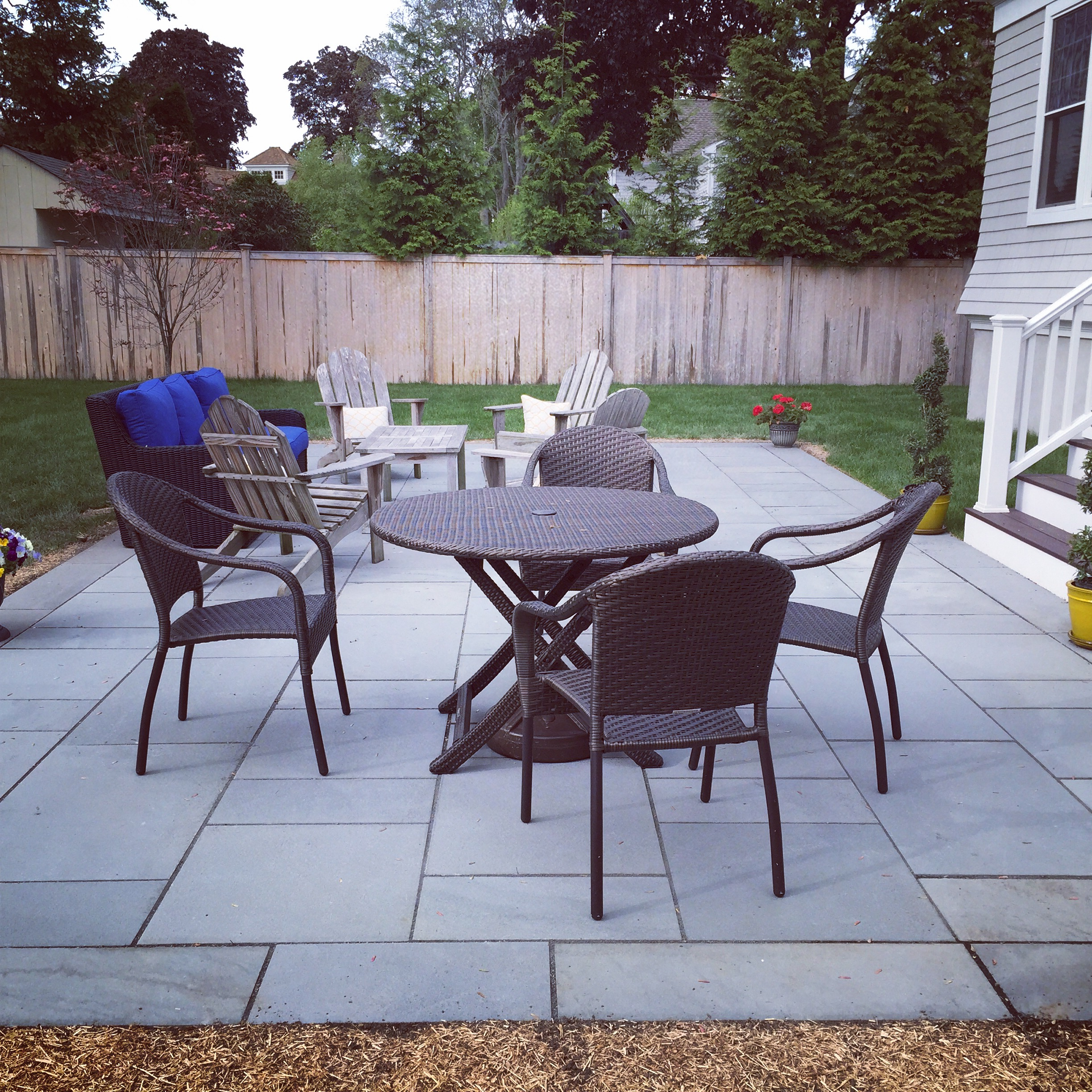 Beautiful Blue Stone Patio in Fairfield, CT