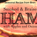 Braised Smoked Ham with Apples and Onions